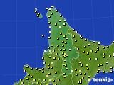 2020年06月23日の道北のアメダス(気温)