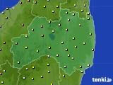福島県のアメダス実況(気温)(2020年06月23日)