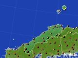 2020年06月23日の島根県のアメダス(気温)