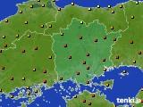 2020年06月23日の岡山県のアメダス(気温)