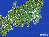 2020年06月23日の関東・甲信地方のアメダス(風向・風速)