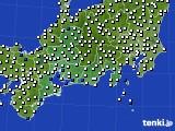 2020年06月23日の東海地方のアメダス(風向・風速)