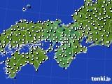 近畿地方のアメダス実況(風向・風速)(2020年06月23日)