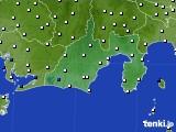 2020年06月23日の静岡県のアメダス(風向・風速)
