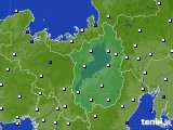 2020年06月23日の滋賀県のアメダス(風向・風速)