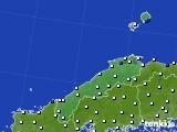 2020年06月23日の島根県のアメダス(風向・風速)