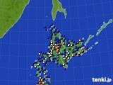 北海道地方のアメダス実況(日照時間)(2020年06月24日)