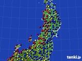 2020年06月24日の東北地方のアメダス(日照時間)