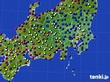 関東・甲信地方のアメダス実況(日照時間)(2020年06月24日)