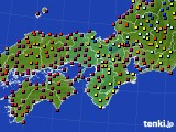 2020年06月24日の近畿地方のアメダス(日照時間)