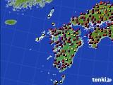 九州地方のアメダス実況(日照時間)(2020年06月24日)