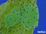 福島県のアメダス実況(日照時間)(2020年06月24日)