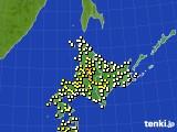 2020年06月24日の北海道地方のアメダス(気温)