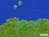 2020年06月24日の鳥取県のアメダス(気温)