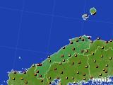 2020年06月24日の島根県のアメダス(気温)