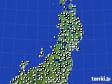 東北地方のアメダス実況(風向・風速)(2020年06月24日)