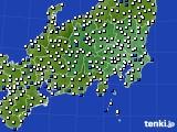 2020年06月24日の関東・甲信地方のアメダス(風向・風速)