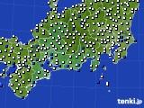 2020年06月24日の東海地方のアメダス(風向・風速)