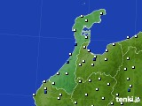 2020年06月24日の石川県のアメダス(風向・風速)