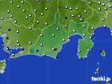 2020年06月24日の静岡県のアメダス(風向・風速)