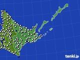 2020年06月24日の道東のアメダス(風向・風速)
