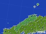 2020年06月24日の島根県のアメダス(風向・風速)