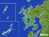 2020年06月24日の長崎県のアメダス(風向・風速)