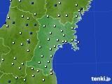 2020年06月24日の宮城県のアメダス(風向・風速)