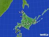 北海道地方のアメダス実況(降水量)(2020年06月25日)