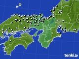 2020年06月25日の近畿地方のアメダス(降水量)