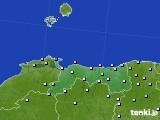 2020年06月25日の鳥取県のアメダス(降水量)