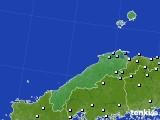 島根県のアメダス実況(降水量)(2020年06月25日)