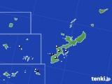 沖縄県のアメダス実況(降水量)(2020年06月25日)
