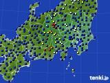 関東・甲信地方のアメダス実況(日照時間)(2020年06月25日)