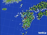 九州地方のアメダス実況(日照時間)(2020年06月25日)