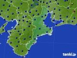 三重県のアメダス実況(日照時間)(2020年06月25日)