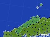 2020年06月25日の島根県のアメダス(日照時間)