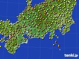 東海地方のアメダス実況(気温)(2020年06月25日)