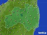 福島県のアメダス実況(気温)(2020年06月25日)