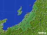 新潟県のアメダス実況(気温)(2020年06月25日)