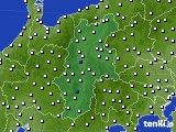 長野県のアメダス実況(風向・風速)(2020年06月25日)