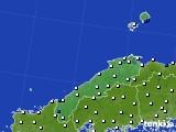 2020年06月25日の島根県のアメダス(風向・風速)