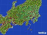 関東・甲信地方のアメダス実況(気温)(2020年06月26日)