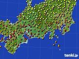 2020年06月26日の東海地方のアメダス(気温)