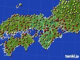 近畿地方のアメダス実況(気温)(2020年06月26日)