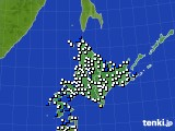 北海道地方のアメダス実況(風向・風速)(2020年06月26日)