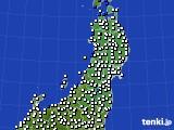 東北地方のアメダス実況(風向・風速)(2020年06月26日)