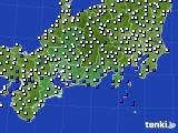 2020年06月26日の東海地方のアメダス(風向・風速)