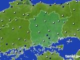 2020年06月26日の岡山県のアメダス(風向・風速)