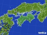 四国地方のアメダス実況(降水量)(2020年06月27日)